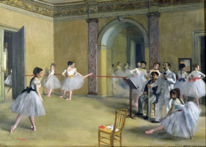 The Dance Foyer at the Opera on the rue Le Peletier Painting